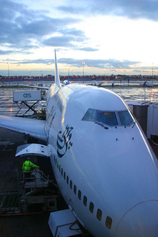 PIA Jumbo jet in Manchester