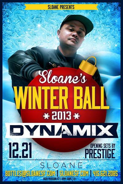 Sloane's Winterball feat. Dynamix @ Sloane 12.21.13