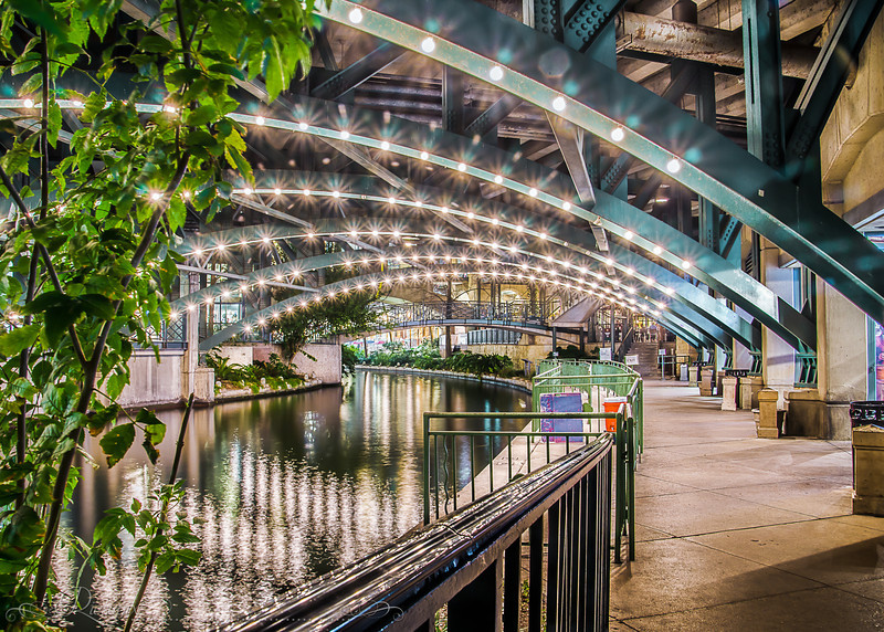 Nightime along the River Walk