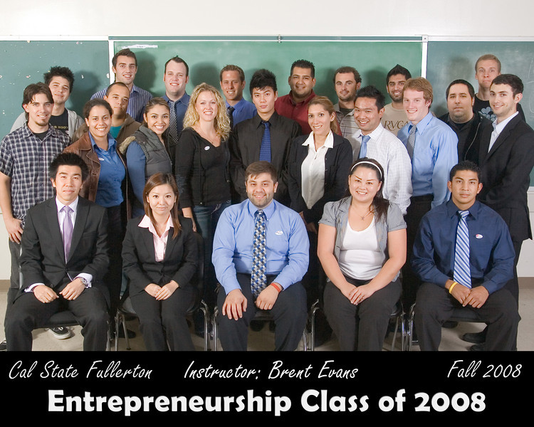 CSUF Entrepreneurship Class Photo - Fall 2008