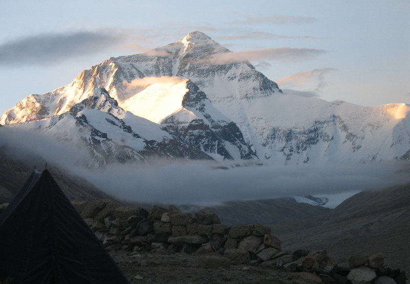 Camp at Mt. Everest