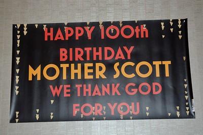 Mother Scott 100th Birthday Aug 16, 2019