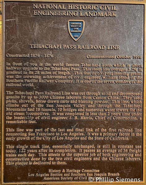 Marker for the Tehachapi Loop