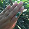 4.05ct Emerald and Old European Cut Diamond Ring 17