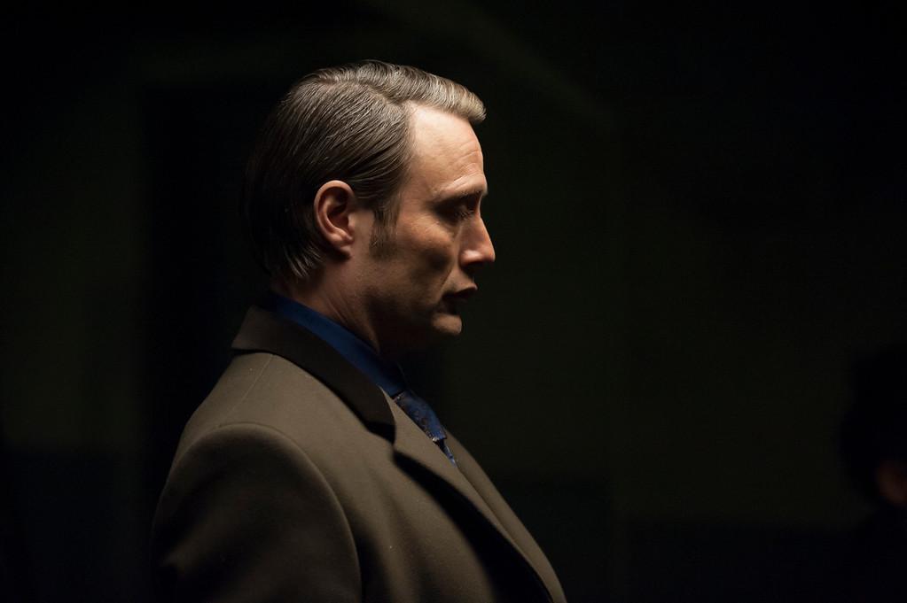 ". Hannibal Lecter (Mads Mikkelsen) in the \""Hannibal\"" episode \""Savoureux,\"" Episode 113. (Photo by: Brooke Palmer/NBC)"