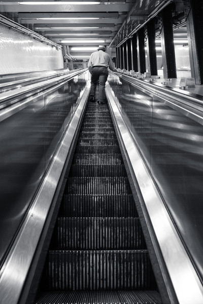 New York Subway escalator