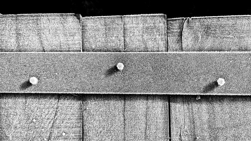 Frost on Metal & Wood