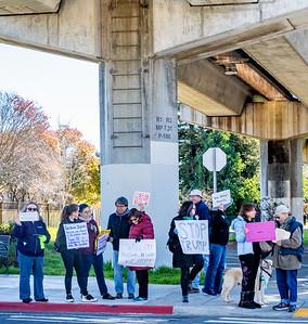Albany Demonstration against Trump's Emergency Declaration