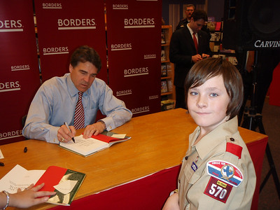 2008 February - Governor Perry Book Signing