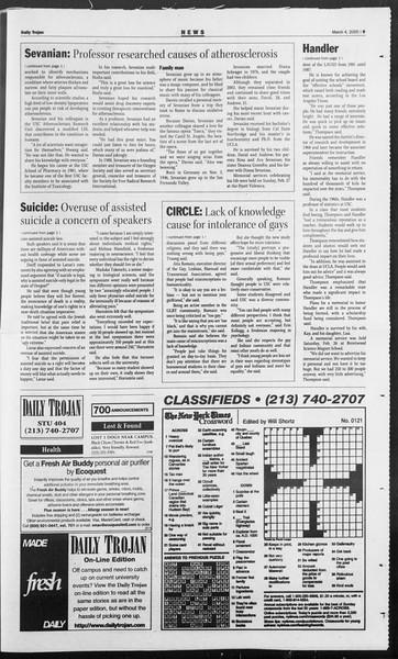 Daily Trojan, Vol. 154, No. 35, March 04, 2005