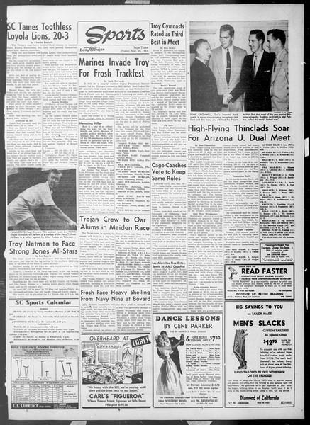 Daily Trojan, Vol. 44, No. 99, March 20, 1953