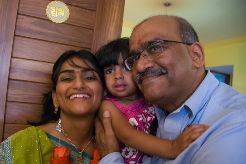 Bhumisha, Shyla, and Dad