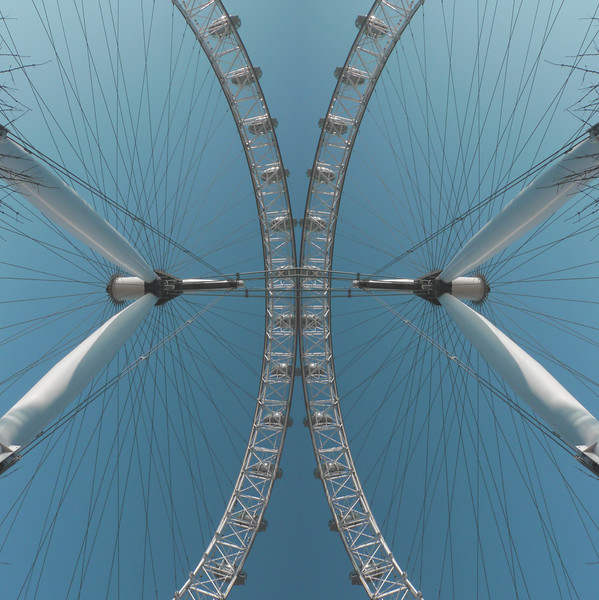 Big Wheel and Sky~1387-4rm.