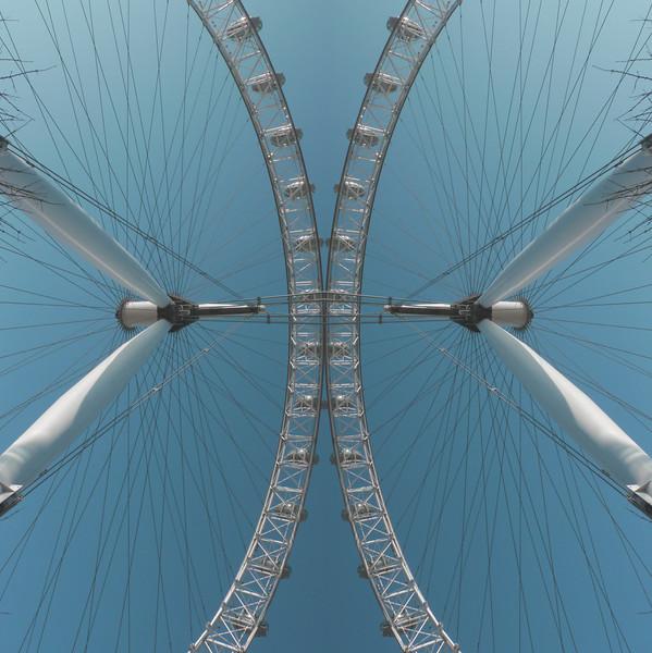 Big Wheel and Sky~1387-4rm.