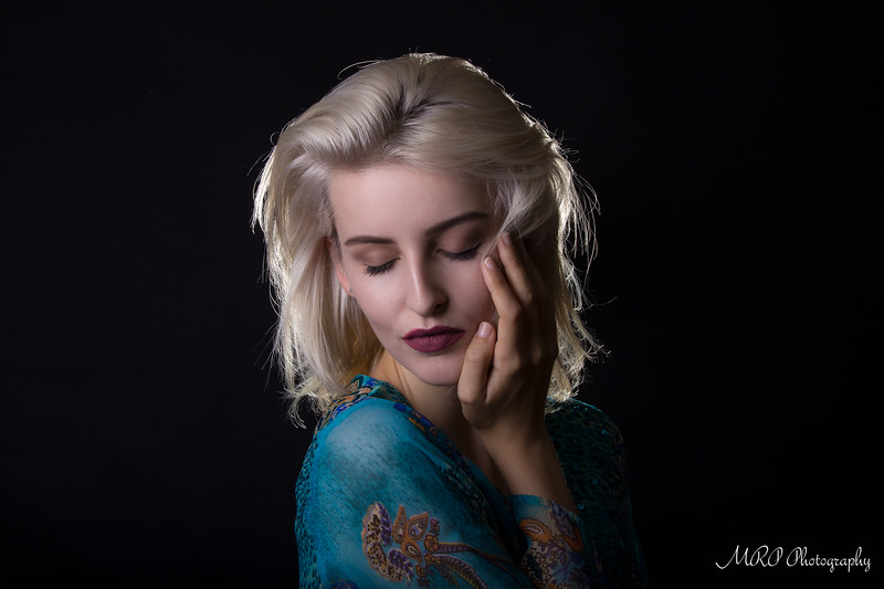 Amber Tutton in the studio