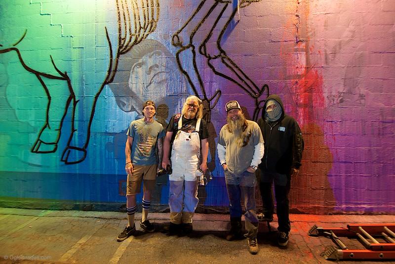 "Icons Of Street Art! Austins own Jason Eatherly ""Queen Eli"", Ron English- Popagnada, Kelly Graval AKA RISK, __ANTI__!!  Austin has HIT the Map!. PLEASE SHARE this photo..."
