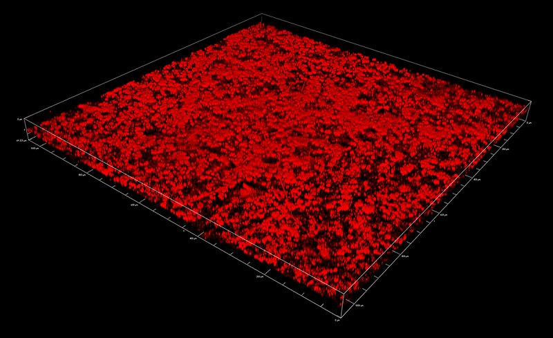 Malaya Straits Settlements KGVI 1937 5c chalky paper surface reflectance confocal microscopy