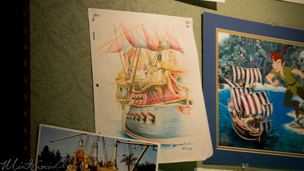 Disneyland Resort, Disneyland, Main Street USA, Disneyana, Disney, Gallery, Peter, Pan, Cel, Neverland, Pirate, Ship, Pin