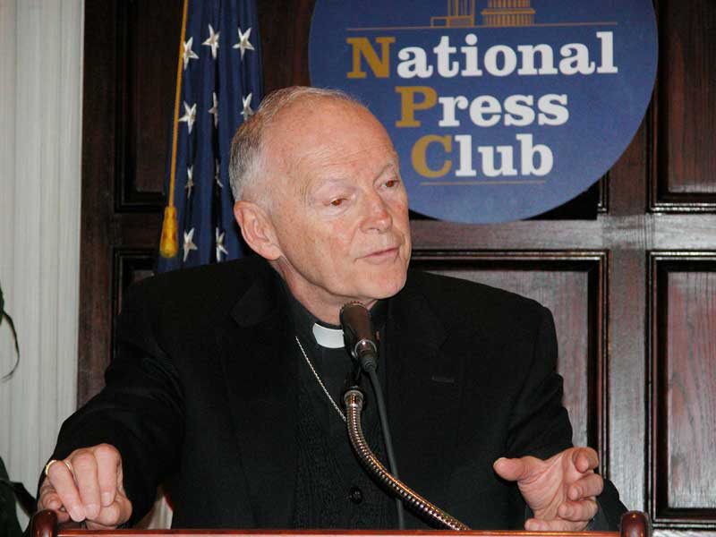 Cardinal Theodore McCarrick, Roman Catholic archbishop of Washington (D.C.), said failure to achieve peace in the Middle East impacts the world.