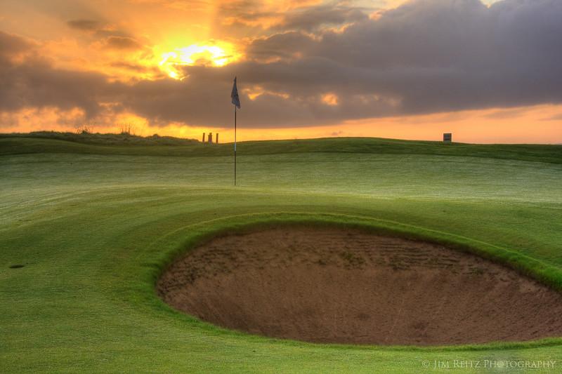 Doonbeg 2nd hole at sunrise