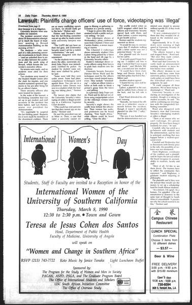 Daily Trojan, Vol. 111, No. 38, March 08, 1990