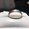 White Gold Men's Band, by Single Stone 1