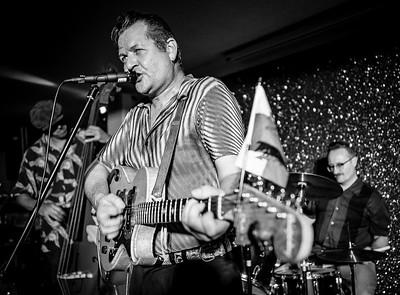 John Lewis Trio, Welsh Rockabilly 2018 B&W
