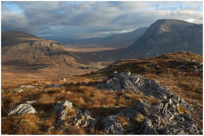 Beinn a'Chrulaiste, Rannoch Moor and Stob Dear from Stob Mhic Mhartuin
