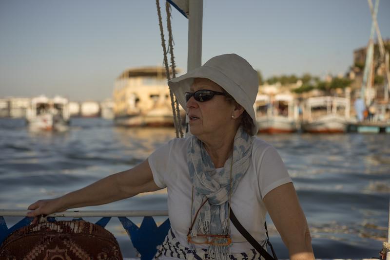 Maky por el Nilo volviendo al west bank