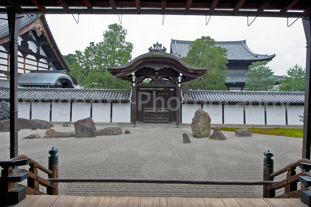 Tofukuji Temple, Sand garden