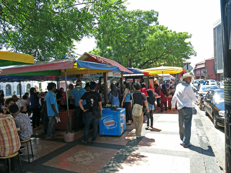 Hawker stalls at Dutch Square