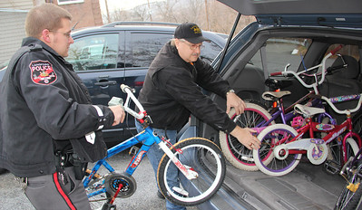 Donation of Used Bikes to Salvation Army, Police Station, Lansford (11-30-2012)