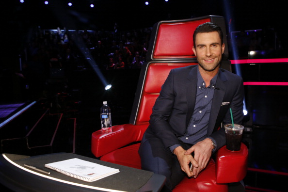 """. THE VOICE -- \""""Live Show\"""" Episode 513B -- Pictured: Adam Levine -- (Photo by: Trae Patton/NBC/NBCU Photo Bank via Getty Images)"""