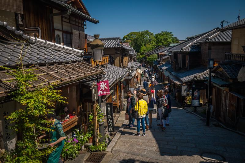 Leaving Kiyomizu-dera and exploring more of Kyoto