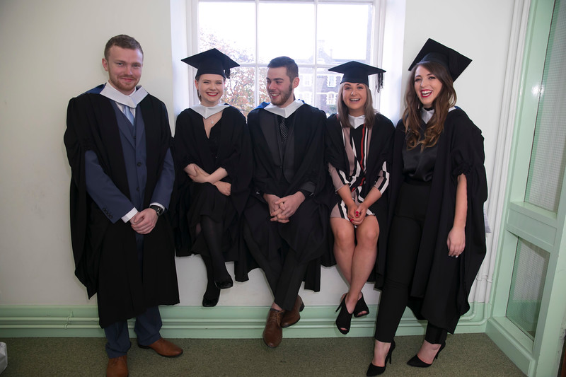 02/11/2018. Waterford Institute of Technology (WIT) Conferring Ceremonies 2018. Pictured areJames Kinsella Dunmain, Niamh Quigley Glenmore, PJ Chapman Campile, Imelda Whelan Dungarvan, Cliona Heffernan Tipperary. Picture: Patrick Browne