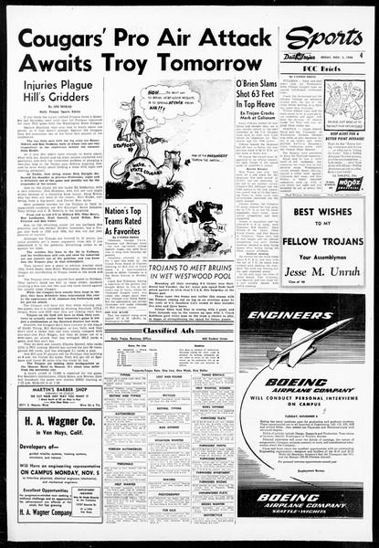 Daily Trojan, Vol. 48, No. 50, December 03, 1956