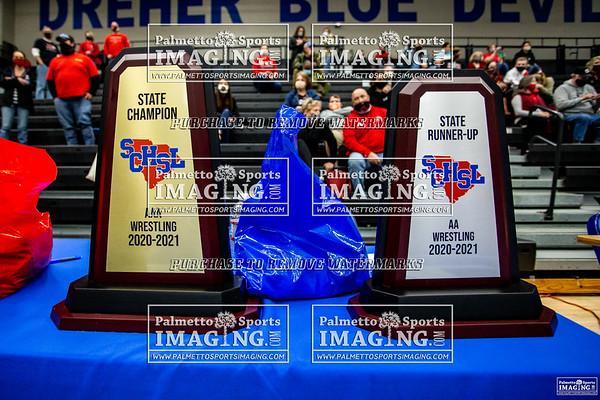 2021 State Wrestling Championship Gilbert vs Belton-Honeapath