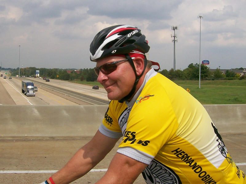Dave crossing over I-55