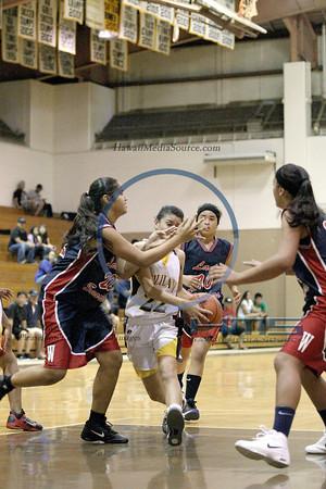 Waianae Girls JV Basketball - Mili 1-3-14