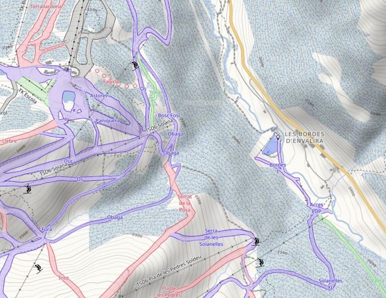 Detalles del terreno adicionales en mapas