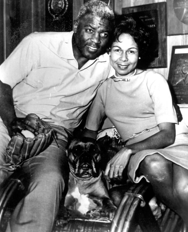 . Jackie Robinson with wife, Rachel.  (Los Angeles Daily News file photo)