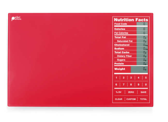 . Whether it\'s eggs, chicken, tofu or something else for dinner, this scale not only weighs the food but also calculates calories, cholesterol and other nutritional information. We\'re fans of the Perfect Portions brand, which organizes information in the familiar Nutrition Labels format. Perfect Portions Touchpad food scale ($59.99) at perfectportionsscale.com. Also available at Target ($49.99) and Cooks of Crocus Hill ($45) stores.