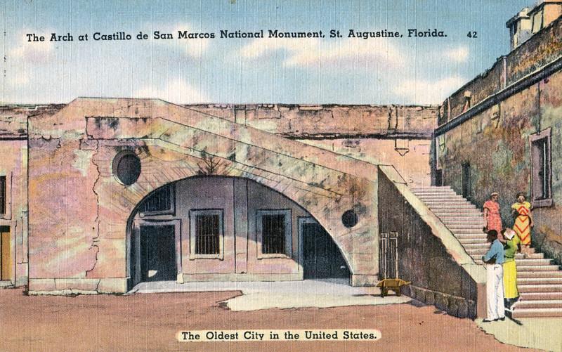 The Arch at Castillo de San Marcos National Monument, St. Augustine, Florida