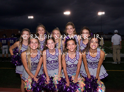 FB - Boerne High School Cheer (JV) (2017) & Somerset Game Action