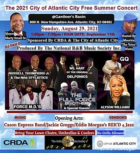 2021 City of Atlantic City Free Summer Concert