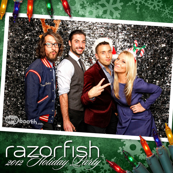 "12.08.2012 razaorfish 2012 holiday party Livingston Restaurant | Atlanta, GA  ""Like"" us at www.facebook.com/omgbooth to TAG + SHARE + DOWNLOAD your photos  Razorfish helps companies build great brands by creating engaging experiences for consumers wherever they live in the digital world. Our marketing and design capabilities, rooted in digital, combine consumer insight, technology and creativity. The result? Consumer experiences that are as dynamic, elegant, and interesting as the people using them. Clients who enjoy customer loyalty, industry recognition, and results. And employees who thrive on inventing the future.  Learn more at razorfish.com"
