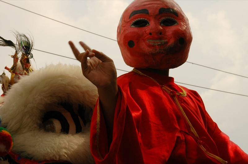 Chinese New Year Costume - Battambang, Cambodia