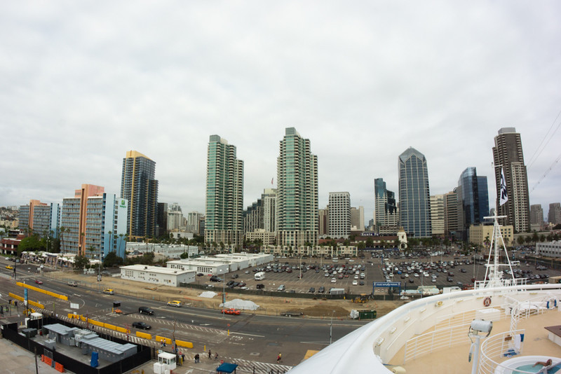 View of San Diego from our balcony