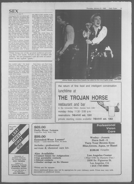 Daily Trojan, Vol. 106, No. 8, January 21, 1988