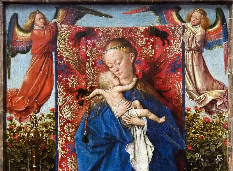 Jan van Eyck: Springbrunnenmadonna (Antwerpen, Museum der Schönen Künste)